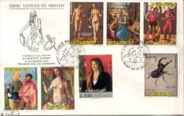 HOMENAJE AL PINTOR ALBRECHT DURER DURERO FDC DICIEMBRE DE 1970 PARAGUAY SERIE SOBRE TBE - Arts