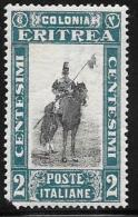Eritrea, Scott # 119 Mint Hinged Lancer, 1930, Corner Defect - Eritrea