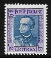 Eritrea, Scott # 156 Mint Hinged Victor Emmanuel Lll, 1931 - Eritrea
