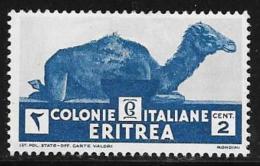 Eritrea, Scott # 158 Mint Hinged Camel, 1934 - Eritrea