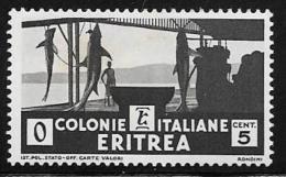 Eritrea, Scott # 159 Mint Hinged Shark Fishery, 1934 - Eritrea