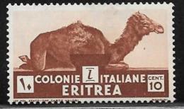 Eritrea, Scott # 160 Mint Hinged Camel, 1934 - Eritrea