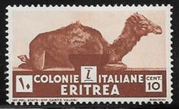 Eritrea, Scott # 160 Mint Hinged Camel, 1934, Thin - Eritrea