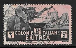 Eritrea, Scott # 165 Used Temple Ruins, 1934, Stain - Eritrea