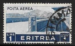 Eritrea, Scott # C11 Used Plane Over Bridge, 1936 - Eritrea
