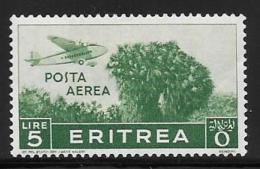 Eritrea, Scott # C15 Mint Hinged Plane Over Trees, 1936, Thin - Eritrea