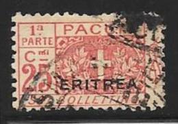 Eritrea, Scott # Q12 Part 1 Used Italy Parcel Post Stamp Overprinted, 1917 - Eritrea
