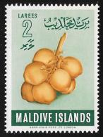 MALDIVE ISLANDS - Scott #69 Coconuts / Mint H Stamp - Maldives (...-1965)