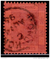 Hong Kong 1882-1902, Queen Victoria, 10c, Scott# 44, Used - Hong Kong (...-1997)