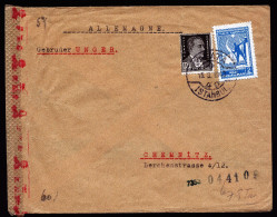 A4224) Türkei Turkey Brief Von Galata Istanbul 19.3.43 Nach Chemnitz Doppelte Chemische Zensur - 1921-... Republik