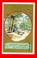 Chromo Sans Publicité Lith. Vieillemard, Fables La Fontaine, Le Gland & La Citrouille - Louit