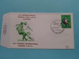 30e Internationaal TORNOOI Voor U.E.F.A. JUNIORES ( F.D.C. P. 507 ) Stempel BRUSSEL 16-4-1977 ( Zie Foto ) ! - FDC