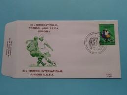 30e Internationaal TORNOOI Voor U.E.F.A. JUNIORES ( F.D.C. P. 507 ) Stempel MORLANWELZ 16-4-1977 ( Zie Foto ) ! - FDC