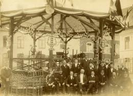 France Pas De Calais Aire Sur La Lys? Groupe De Personnalités Ancienne Photo 1890 - Photographs