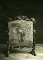 France Paris Objet D'Art Boiserie Broderie Ancienne Photo Femina 1910 - Objects
