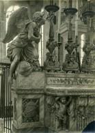 France Paris ? Detail Objet D'Art Statue Eglise Religion Ancienne Photo 1910 - Objects
