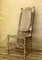France Chateau De Pau Objet D'Art Chaise Louis XIII Ancienne Photo 1890 - Photos