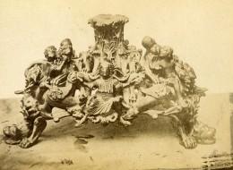 Prague Cathedrale Saint-Guy Bougeoir Bronze Ancienne Photo Cabinet Maloch 1890 - Photographs