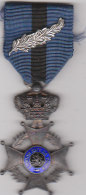 Order Of Leopold II Knight Class Medal, Ribbon And Silver Palm Citation Awarded To A Belgian Resistance Fighter - Belgio