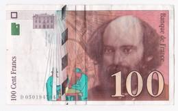 100 Francs Cézanne 1998, Serie : D050194704. - 1992-2000 Ultima Gama