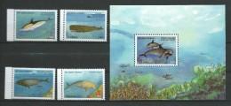 Tanzania 2003 Marine Mammals.dolphin, Whale,dugong Dugon.S/S And Stamps.MNH - Tanzania (1964-...)