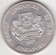SINGAPOUR. 10 DOLLARS 1977. ARGENT. KM# 15 - Singapore