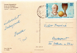 Postal History: Hungarian PPC With Jules Rimet Stamp - 1966 – Inglaterra