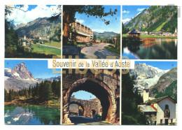 Souvenir De La Vallée D'Aoste, Cartolina Multiview, Scritta 1966 - Italy