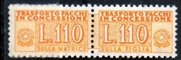 PIA - Specializzazione  :1970 :  PACCHI CONCESSIONE : £ 110 - (SAS 13/I - CAR 24) - Varietà E Curiosità