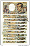 "P France 200 Francs """" MONTESQUIEU """" 1983 - 1992 - 10 Billets # 1 - 200 F 1981-1994 ''Montesquieu''"