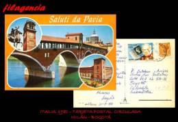 EUROPA. ITALIA. ENTEROS POSTALES. TARJETA POSTAL CIRCULADA 1980. MILÁN-BOGOTÁ. ROWLAND HILL - 6. 1946-.. Republik