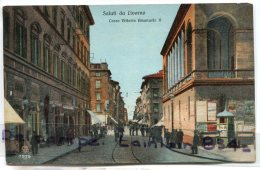 - LIVORNO - Corso Vittorio Emanuele II, écrite, 1919, Animation, Belle En Couleur, TBE, Scans.. - Livorno