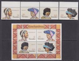 Transkei 1981 Headdresses 4v + M/s ** Mnh (32155) - Transkei