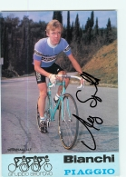 Alf SEGERSALL , Autographe Manuscrit, Dédicace . 2 Scans. Cyclisme. Bianchi Piaggio - Radsport