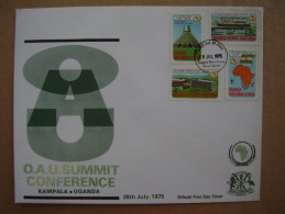 KUT 1975 O.A.U. SUMMIT CONFERENCE, KAMPALA Issue FDC With 4 Values To 3/-. - Kenya, Uganda & Tanganyika