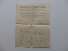 Lettre De L´élevage De Fond-Chevalier à Annonay En Ardèche. - France