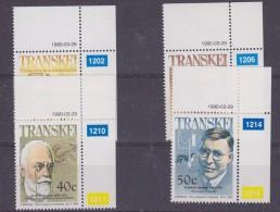 Transkei 1990 Famous People / Medicine 4v (corners) ** Mnh (32158) - Transkei