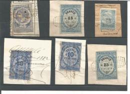 LOT DE 6 TIMBRES FISCAUX - Revenue Stamps