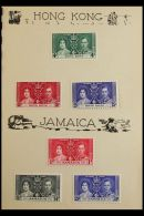 BRITISH COMMONWEALTH 1937 CORONATION Omnibus Issues Complete Very Fine Mint Collection In A Small Special Printed... - Stamps