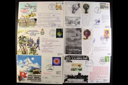 """RAF SIGNED FLOWN COVERS 1981-1989 All Different Collection Of RAF """"AC"""" Series And JS """"AC"""" Series Flown Covers, All... - Stamps"""