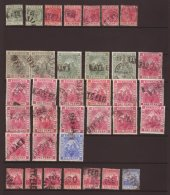 LATE FEE POSTMARKS A Collection Of Boxed Late Fee Cancels On Barbados 1882-97 Issues, Part To Fine Strikes, A... - Stamps