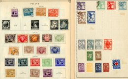 EASTERN EUROPE - PILE OF OLD ALBUM LEAVES On Country Sorted Pages From Various Collections. Mint & Used Ranges... - Stamps