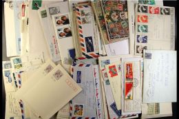 WORLD COVERS AND CARDS ASSEMBLY An 1880's To Modern Assembly Of Commercial Covers, FDC's, Postal Stationery And... - Stamps
