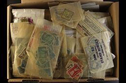 GLASSINE & PACKET SORTER A Shoe Box Stuffed With Glassines & Packets Filled With Many Latin America &... - Stamps