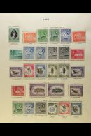ADEN & STATES 1953/9 FINE NEVER HINGED MINT COLLECTION With First QEII Definitive Sets Of Aden, Kathiri State... - Stamps