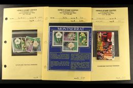 LEEWARD ISLANDS AREA 1970's And 1980's Never Hinged Mint Assembly On Dealers Pages In Four Volumes, Mostly Issues... - Stamps