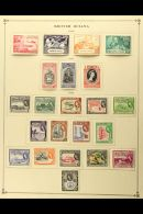 BRITISH AMERICA 1949-55 All Different Fine Mint Collection On Printed Album Pages With Sections Of British Guiana... - Stamps