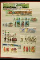ST. KITTS, NEVIS, ST. LUCIA, ST. VINCENT, GRENADINES OF ST. VINCENT NEVER HINGED MINT SETS, A Collection In A... - Stamps