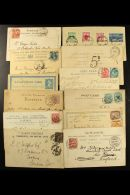 COVERS & CARD ACCUMULATION 1880-1990 ALL WORLD Hoard With Postcards, Aerogramme, First Day Covers, Registered... - Stamps