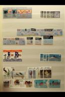MARSHALL ISLANDS, MICRONESIA, NAURU, NEW ZEALAND NEVER HINGED MINT SETS, A Collection In A Stock Book Of Sets... - Stamps